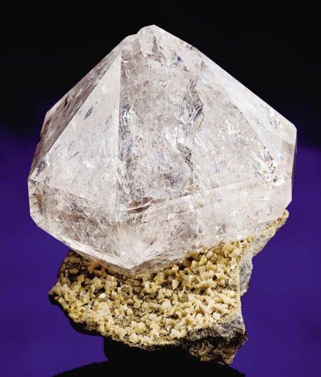 """41004: """"HERKIMER DIAMOND"""" QUARTZ ON MATRIX"""