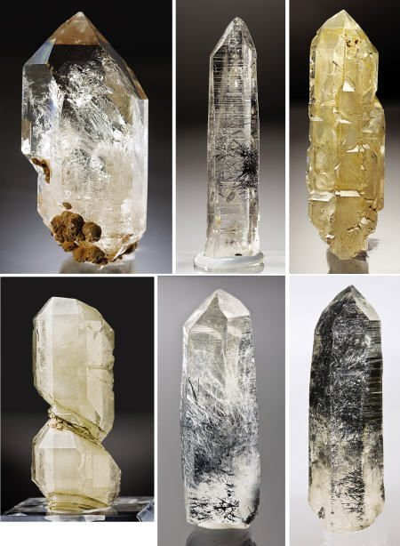 41010: COLLECTION OF 6 QUARTZ WITH INCLUSIONS/PHANTOMS