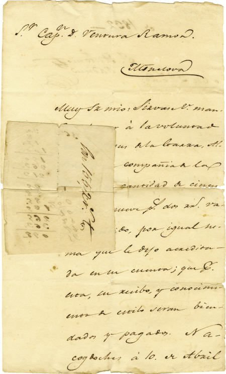 45008: Juan Antonio Padilla Autograph Document Signed.