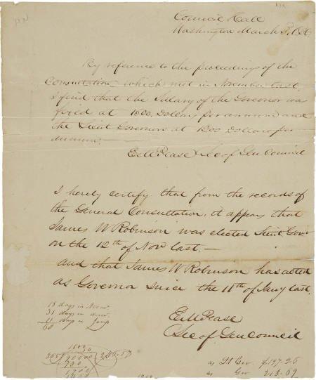 45014: [Texas Revolution] Elisha M. Pease Document Lett