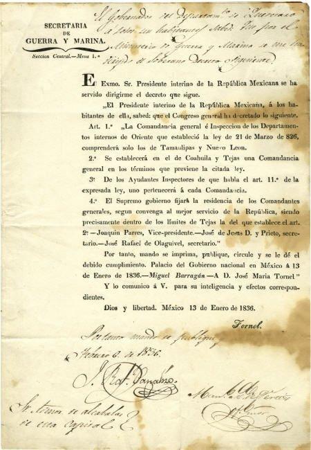 45016: [Texas Revolution: José María de Tornel y Mendiv