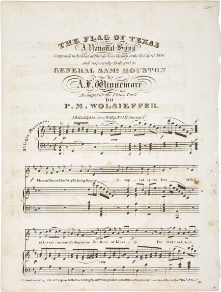45021: [Sheet Music] The Flag of Texas, A National Song