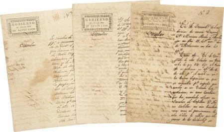 45223: [Nuevo Leon] Governor Joaquín García Manuscript