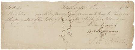 45227: [Republic of Texas] Joseph Bell Chance Signed Pr