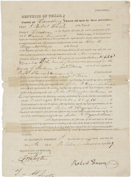45232: [Republic of Texas] William Fairfax Gray Partial