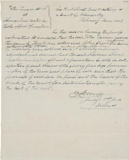 45241: [Republic of Texas] Richard Morris Admiralty Cou