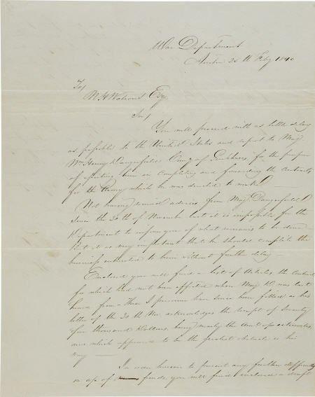 45246: [Texas Republic] William G. Cooke Autograph Lett