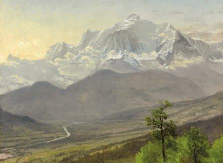 67014: ALBERT BIERSTADT (American, 1830-1902) Mont Blan