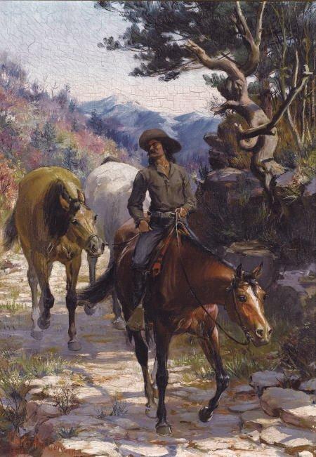67016: CHARLES ABEL CORWIN (American, 1857-1938) Bandit