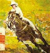 67144: EDNA GLAUBMAN (American, 1919-1986) Barrel Race,