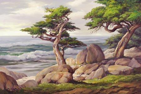 67305: BÉLA BODÓ (American, b. 1936) Pescadero Point Cy