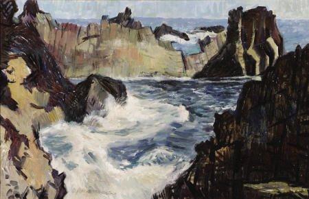 67306: ANDRE BORATKO (Czechoslovakian, 1912-1990) Ocean