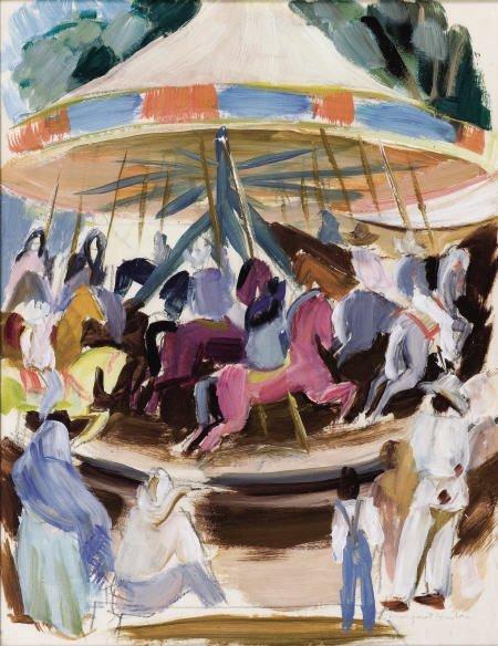 67307: MARGARET BRUTON (American, 1894-1983) Carousel w