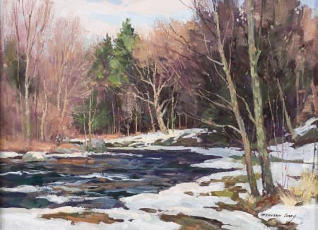 67308: BERNARD COREY (American, 1914-2000) Winter Solit