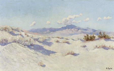 67313: CARL A. EYTEL (German, 1862-1925) Palm Desert Oi