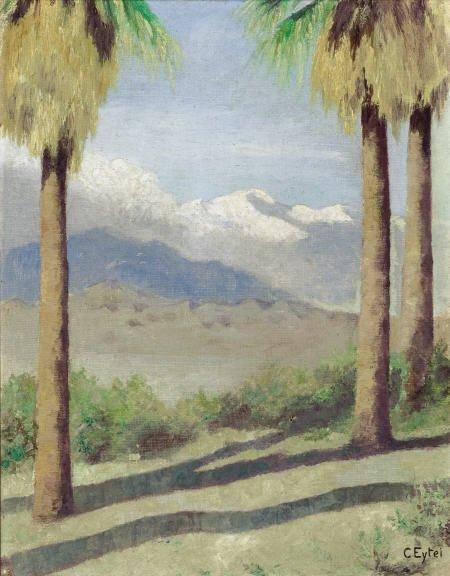 67314: CARL A. EYTEL California Palms, after 1898 Oil