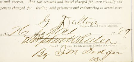 43008: Grattan Dalton (Dalton Gang) Document Signed