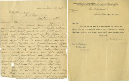 43009: Two Letters Related to an Oklahoma Territory Tra