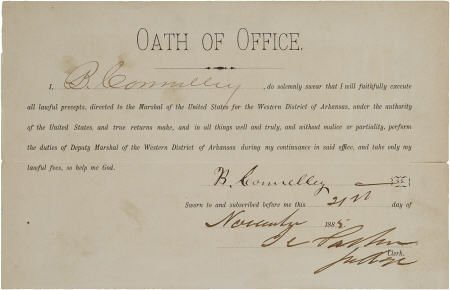 "43010: Isaac ""Hanging Judge"" Parker: Document Signed ""I"