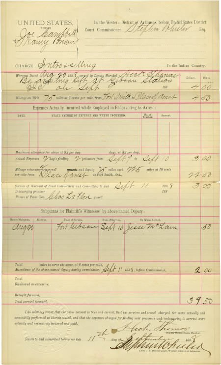 "43013: Lawman Henry A. ""Heck"" Thomas Document Signed ""H"