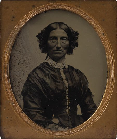 43456: Sixth Plate Ambrotype of Georgia Cherokee Lady.