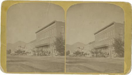 43461: Stereoview Street Scene Canon City, Colorado