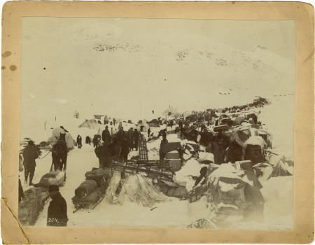 43463: Photograph: Gold Miners Preparing to Climb the S