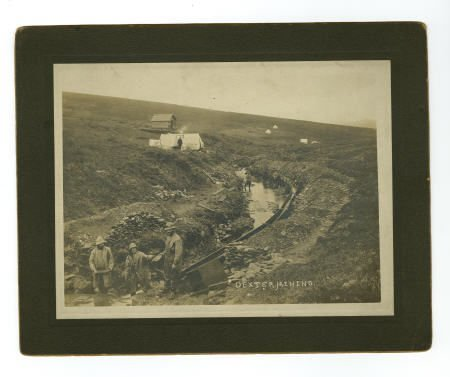 "43466: Large Sluice Gold Mining Photograph ""Dexter Mini"