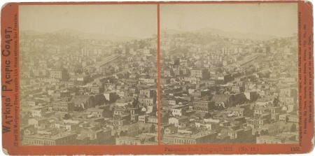 43472: Stereoview Panorama of San Francisco by Carleton
