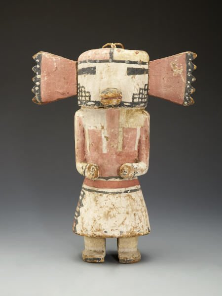 55001: A HOPI COTTONWOOD KACHINA DOLL c. 1915  with sem