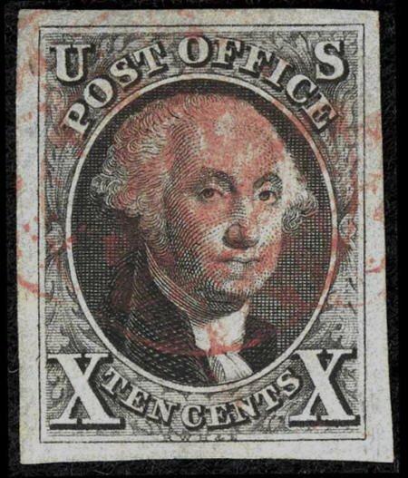 31010: #2, 1847, July 1, 10c Black SUP 98 PSE. (Used).