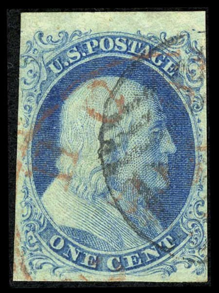 31024: #5A, 1851, 1c Blue. (Used). Very fine appearing