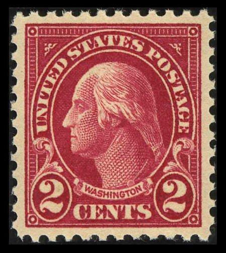 31840: #554, 1923, 2c Carmine, GEM 100 PSE. (Original G