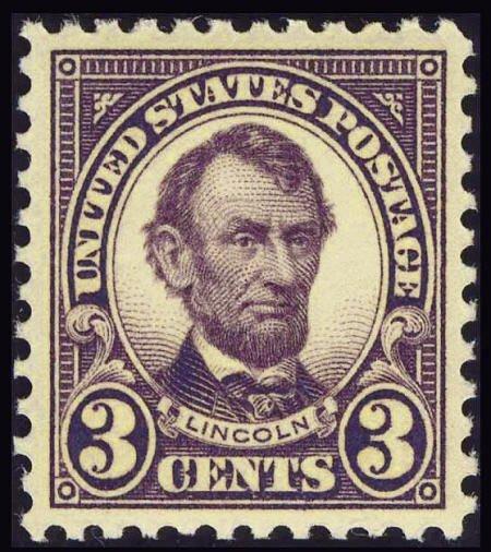 31843: #555, 1923, 3c Violet, XF-S 95 PSE. (Original Gu