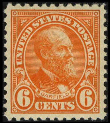 31846: #558, 1922, 6c Red Orange XF-S 95 PSE. (Original