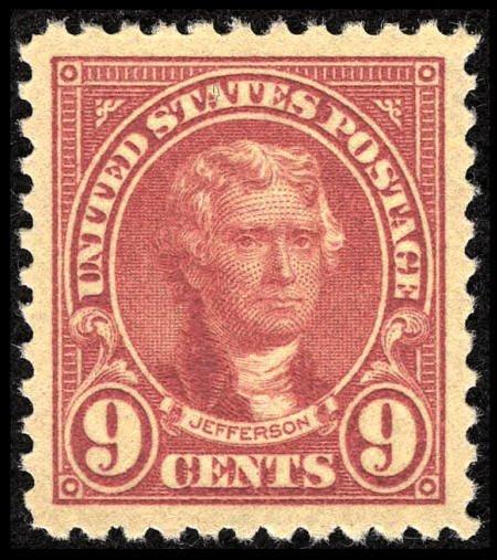 31852: #561, 1923, 9c Rose, SUP 98J PSE. (Original Gum