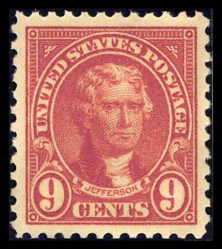 31853: #561, 1923, 9c Rose, SUP 98 PSE. (Original Gum -