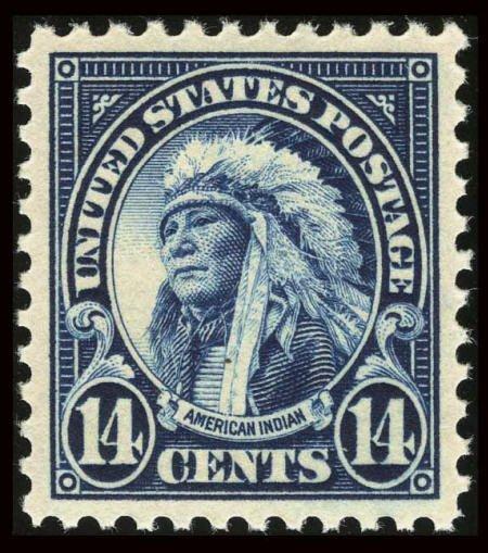 31858: #565, 1923, 14c Blue, GEM 100 PSE. (Original Gum