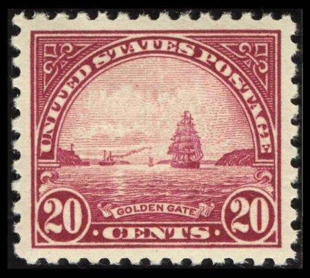 31862: #567, 1923, 20c Carmine Rose SUP 98 PSE. (Origin