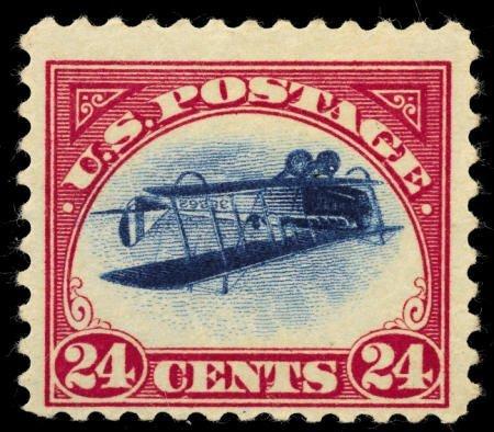 31987: #C3a, 1918, 24c Carmine Rose & Blue F 70 PSE. (O
