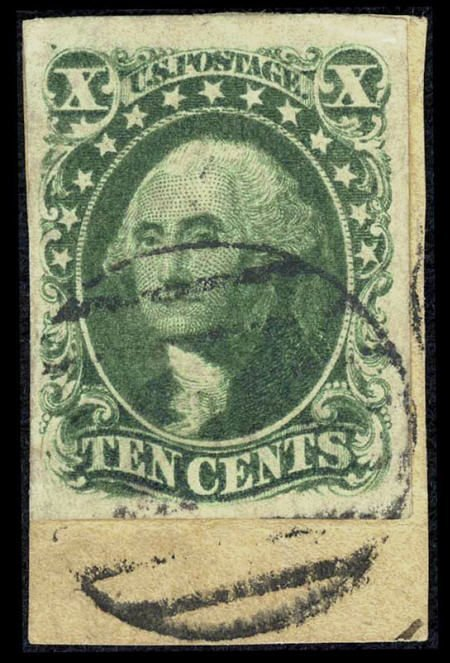 32682: #14, 1851-57, 10c Green. (Used). Gorgeous used e