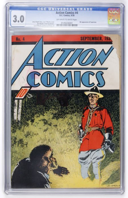 91001: Action Comics #4 (DC, 1938) CGC GD/VG 3.0 Off-wh