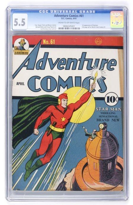 91007: Adventure Comics #61 (DC, 1941) CGC FN- 5.5 Crea
