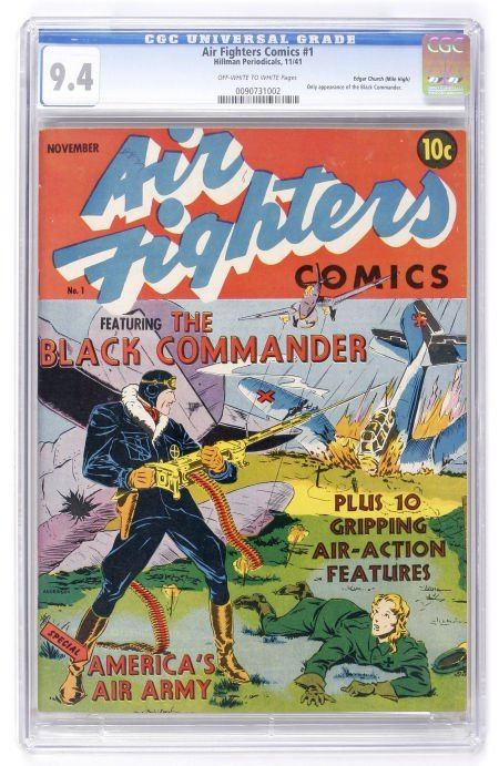 91009: Air Fighters Comics #1 Mile High pedigree (Hillm