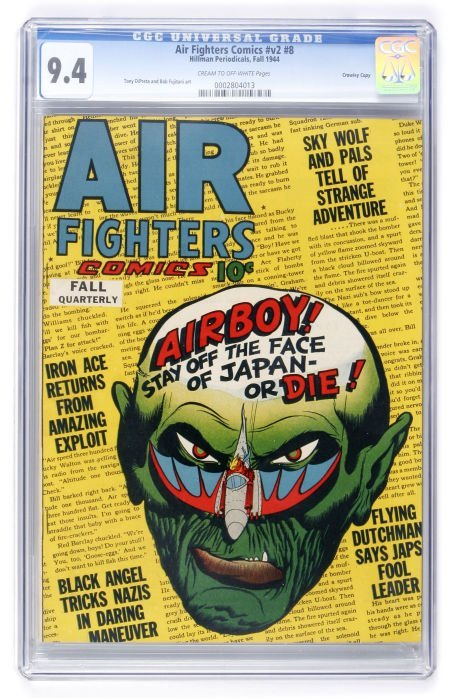 91010: Air Fighters Comics V2#8 Crowley Copy pedigree (