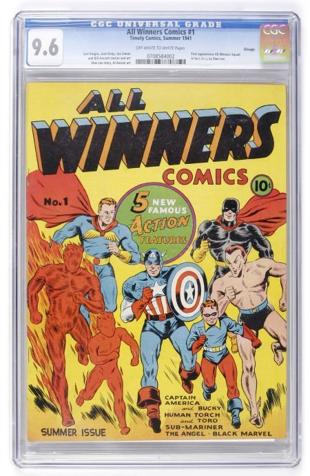 91020: All Winners Comics #1 Chicago pedigree (Timely,