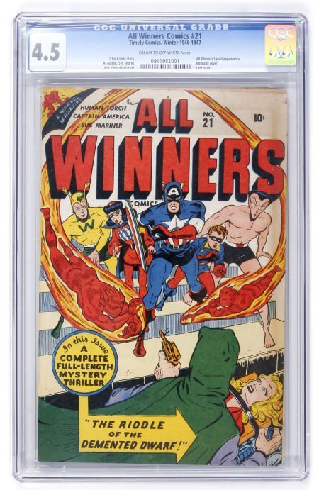 91022: All Winners Comics #21 (Timely, 1947) CGC VG+ 4.