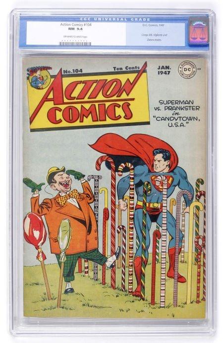 91006: Action Comics #104 (DC, 1947) CGC NM 9.4 Off-whi