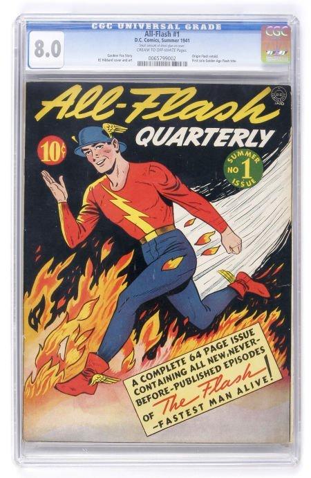 91011: All-Flash #1 (DC, 1941) CGC VF 8.0 Cream to off-