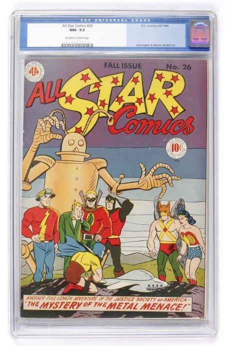 91016: All Star Comics #26 (DC, 1945) CGC NM- 9.2 Off-w